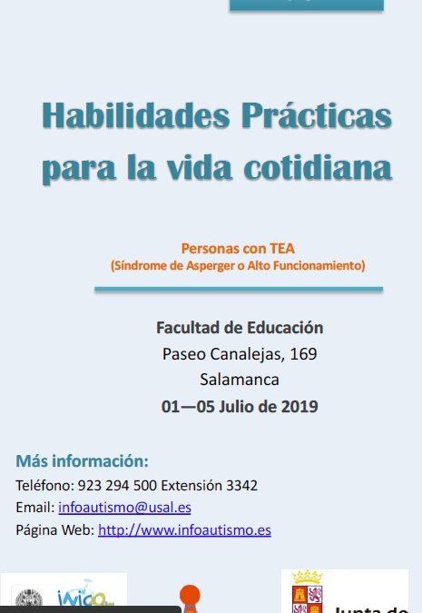 XV Edición del curso de verano Habilidades Prácticas para la Vida Cotidiana (Personas con AAF o SA)